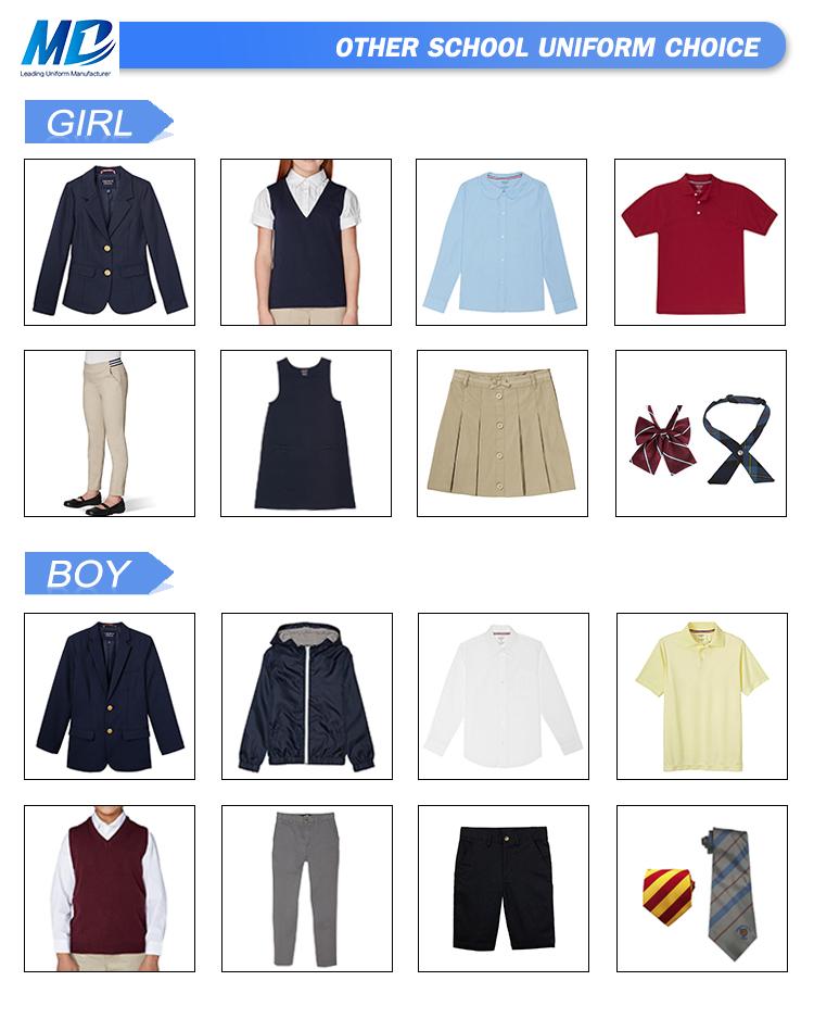 OEM Children Clothes Girl Dresses School Girl Uniform, Sailor Style School Uniform
