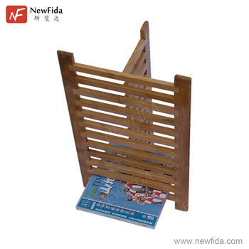 Eco Friendly Bamboo Space Saving Bookrack Tan Bookshelf