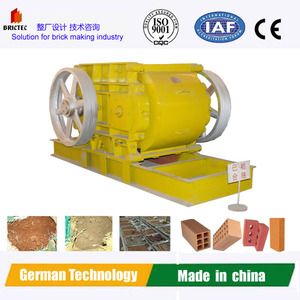 Mud brick making machine with Germany technology-Clay double roller crusher