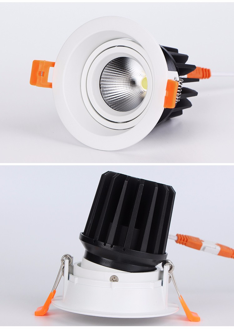 2018 New Ultra Slim High Power Recessed Fitting Fire Rated LED Adjustable COB Downlight