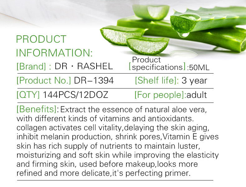 DR.RASHEL Aloe Vera Ampoule Collagen Vitamin E Essence Face Serum Make Up Perfecting Primer