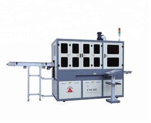 CNC102 Auto Flame Treatment UV silk screen printing machine For Cylinder/Oval /Square Bottles