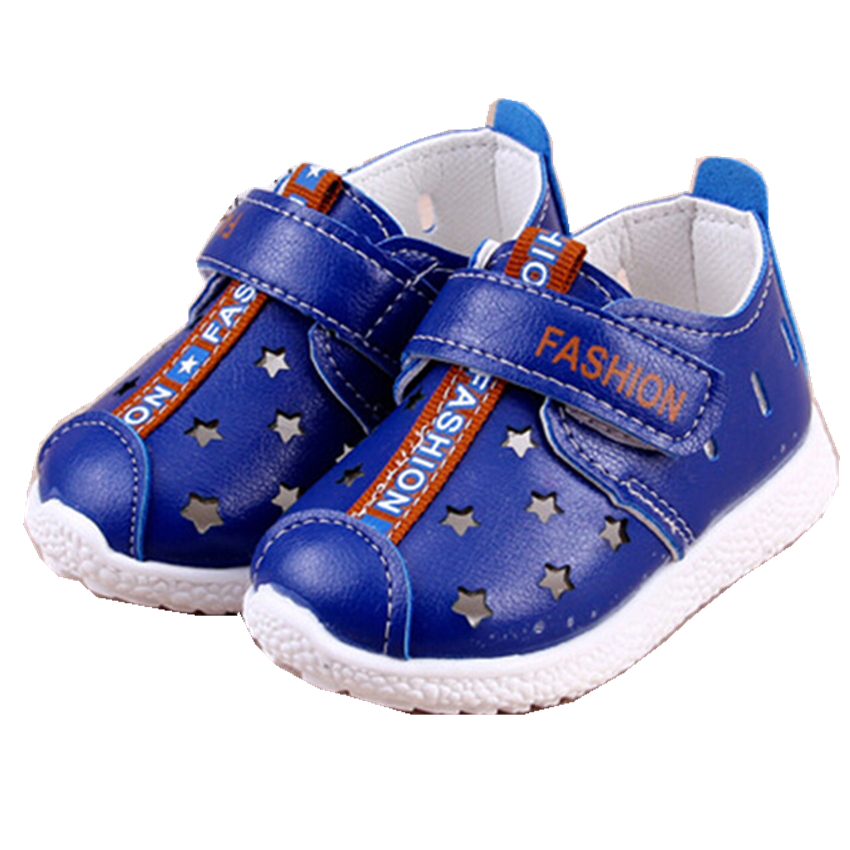 2016 New Arrival Children Shoes For Boys PU Leather Mesh Sports Sneakers Soft Bottom Little Kids Shoe 2-5 Years