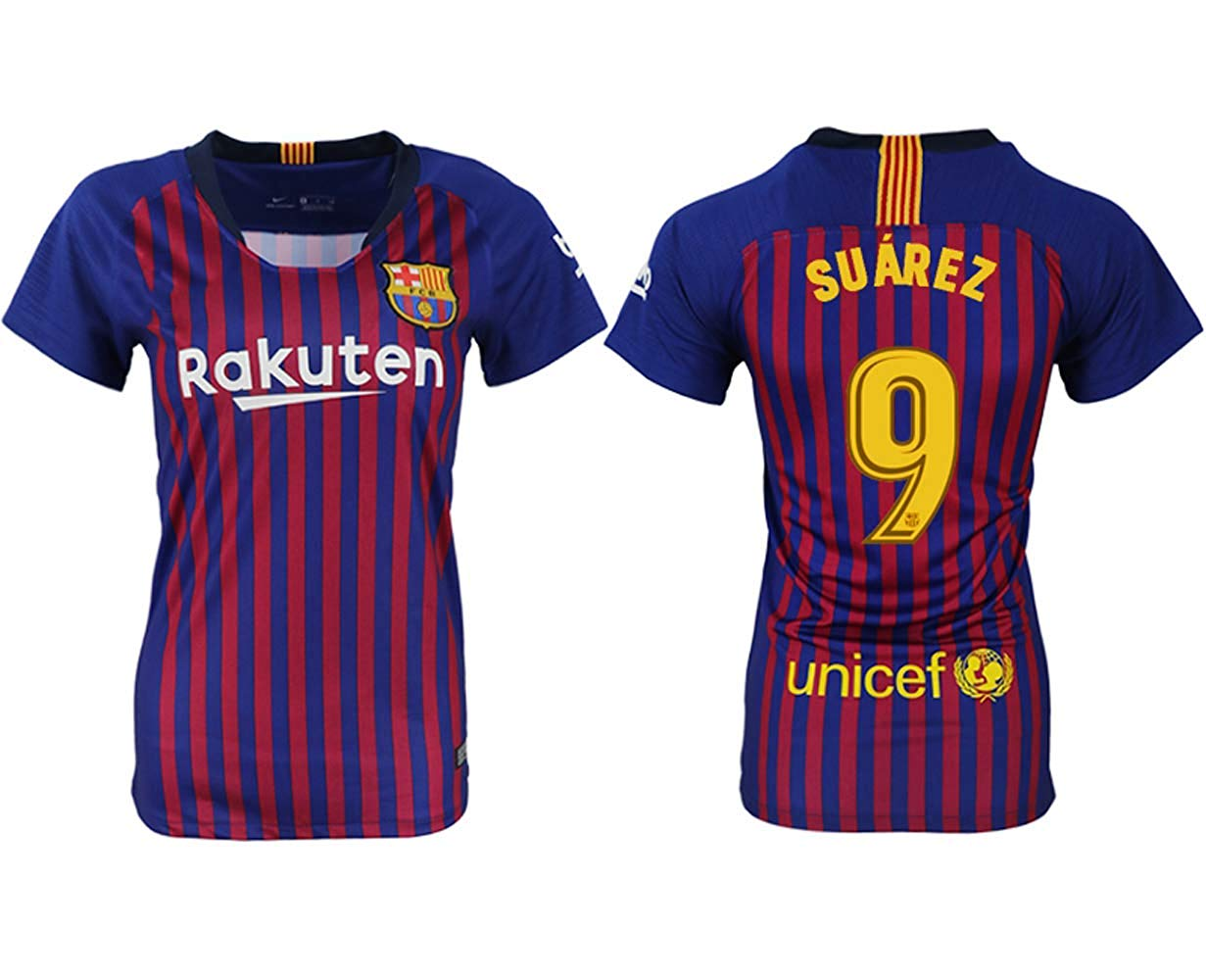 5210c70ee Get Quotations · Fun jersey Suarez  9 Barcelona 2018-2019 Home Women s  Soccer Uniforms