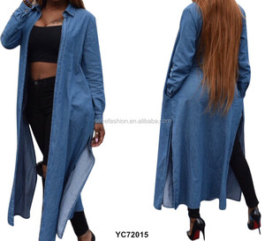 In stock fashion design jean casual dress in high quality for african women