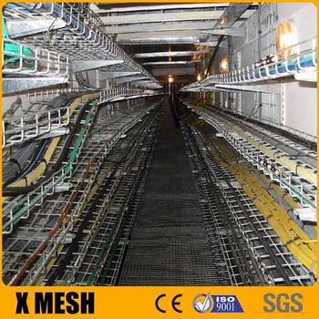 Flexible Installation Black Steel Wire Mesh Cable Tray With Ul Cul ...