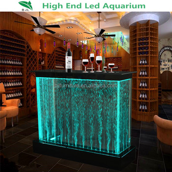 Acrylic Led Light Bar Table Used Nightclub Lighted Furniture Water Bubble  Bar Counter Design