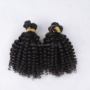 wholesale hair weave 3pcs spiral spring curly hair for black women african american human remy hair extensions free shipping