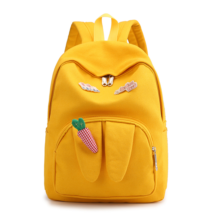 High quality kids school backpack canvas student bag