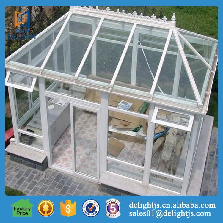 Buena calidad de aluminio lowes vidrio templado curvo - Invernaderos para terrazas ...