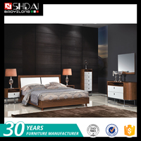China design custom bed comfortable modern bedroom furniture chiniot furniture bed sets