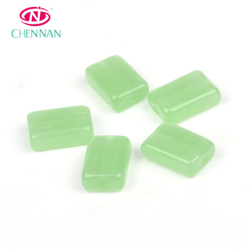 China wholesale cheap price Miyuk jewelry finding pressed smooth cube crystal beads