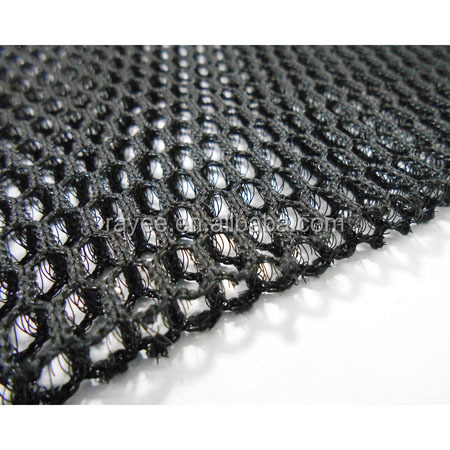 7-8mm 380gsm Knitted black 3d mesh spacer fabric / Anti-Static,Waterproof Feature Sandwich Mesh/Aire 3d tela de acoplamiento