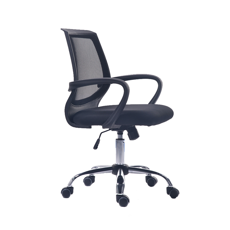 Nylon arms high back ergonomic mesh wide seat office chair with headrest
