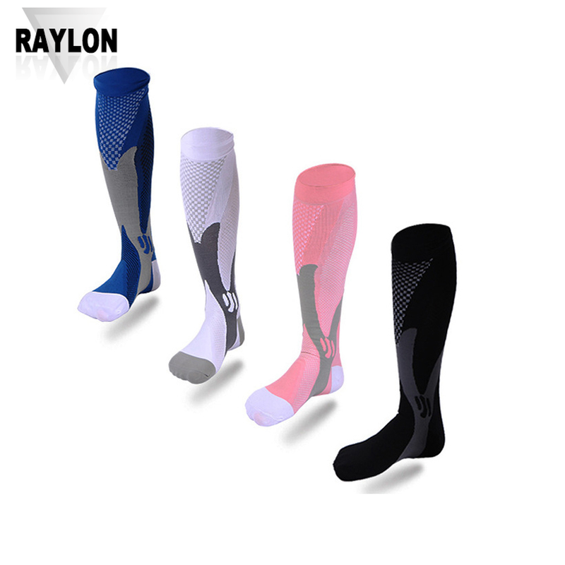 Raylon-1074 long running socks mens knee high running socks