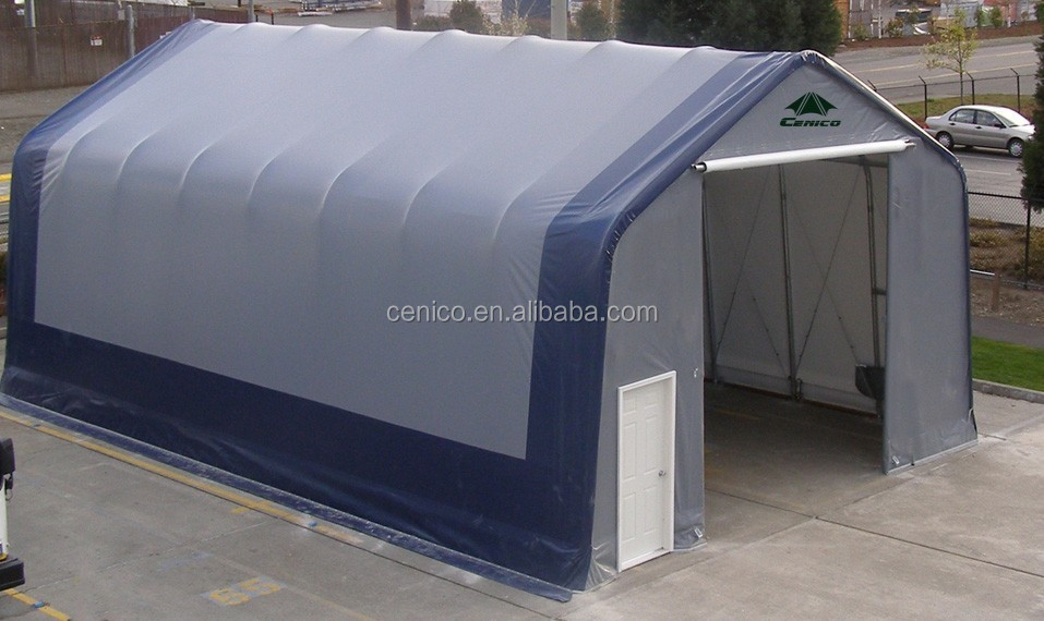 Heavy duty Storage shelter , Warehouse tent , Peak Style car garage