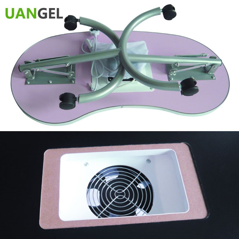 Manicure station portable movable manicure salon nail for Manicure table with exhaust fan
