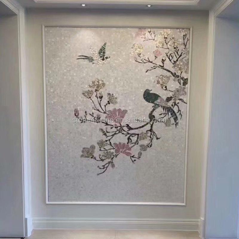 Pearl Wall Mural Patterns Shell Mosaic