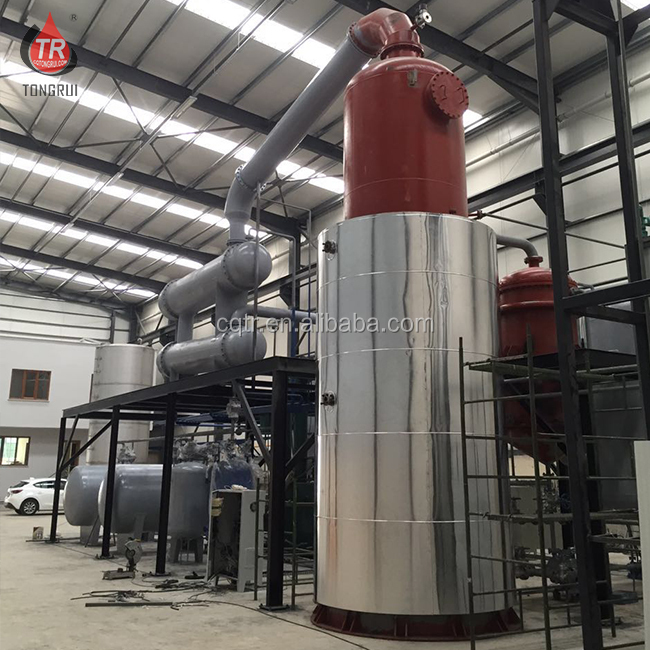high recovery rate waste black engine oil extraction recycle plant