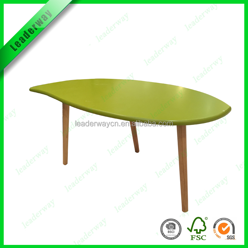 Hight quality mdf top with pine wood legs sofa side table