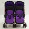 Double seat convenient adjustable push-pull knob twins baby stroller