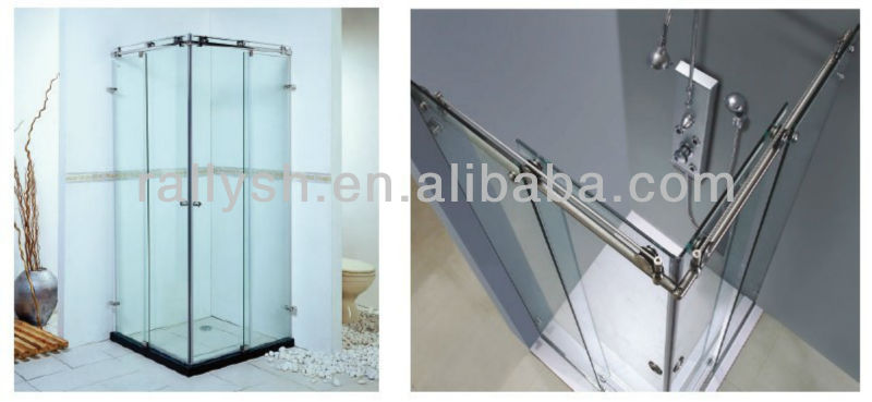 smooth gliding sliding glass shower door fitting