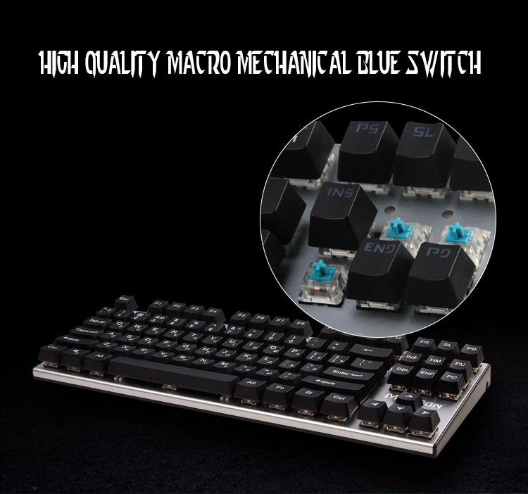 Professional Multimedia Mechanical RGB Blue Switch Computer Gaming Keyboard