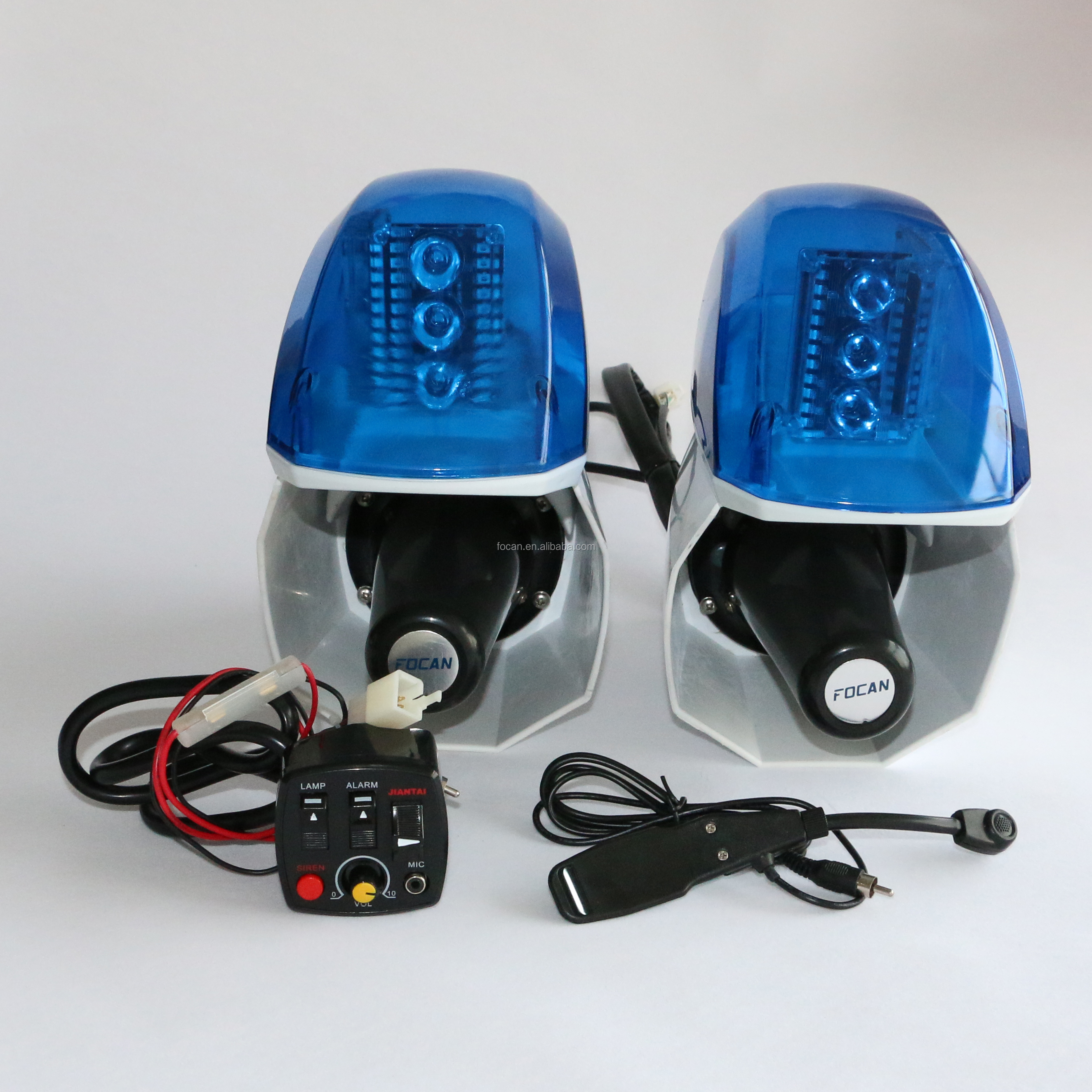 police Motorcycle siren and speaker with warning light