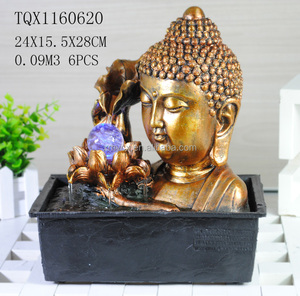 2018 New arrival resin buddha head fountain for home decor