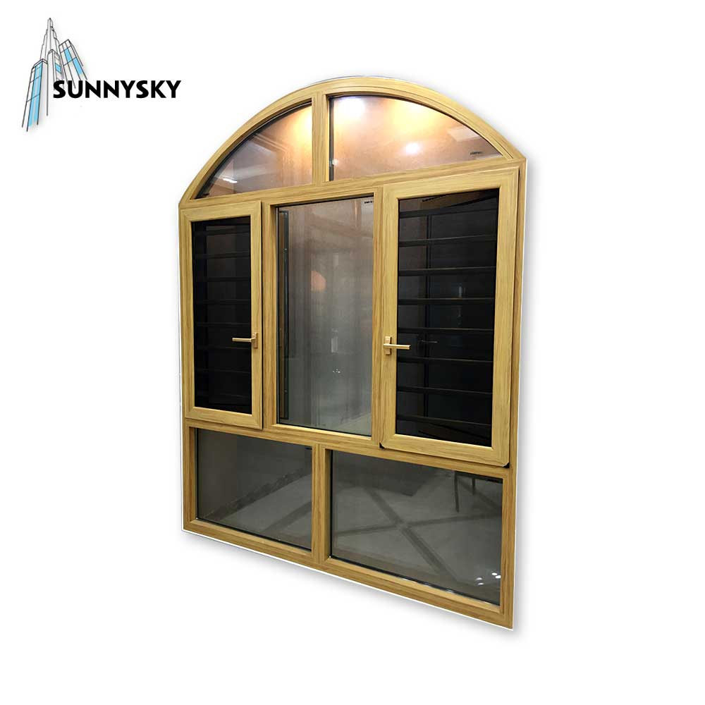Manufacturer residential waterproof aluminum casement window with fly screen and best price
