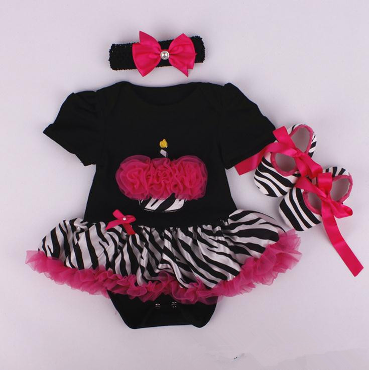 X62414A Santa Claus Tutu Jumpsuit+Headband+Shoes Newborn baby Romper Set