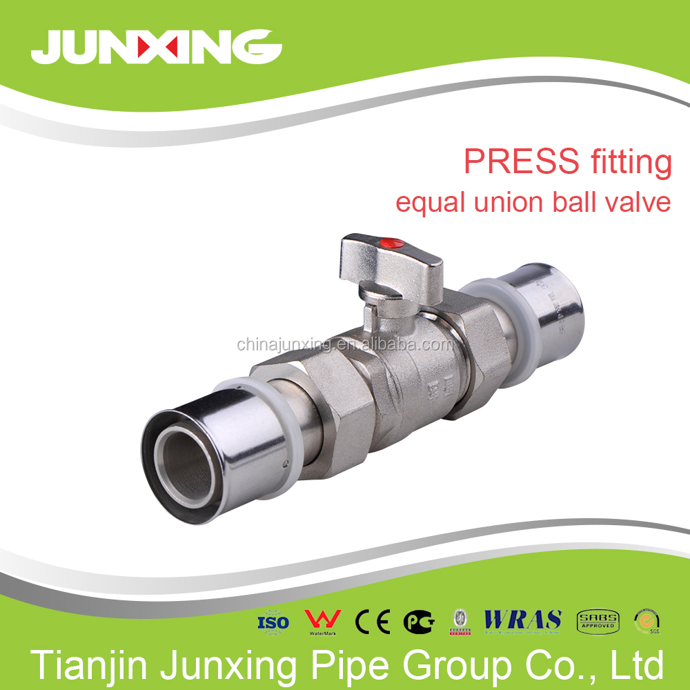 Fittings Press brass male threaded ball valve for PEX-AL-PEX