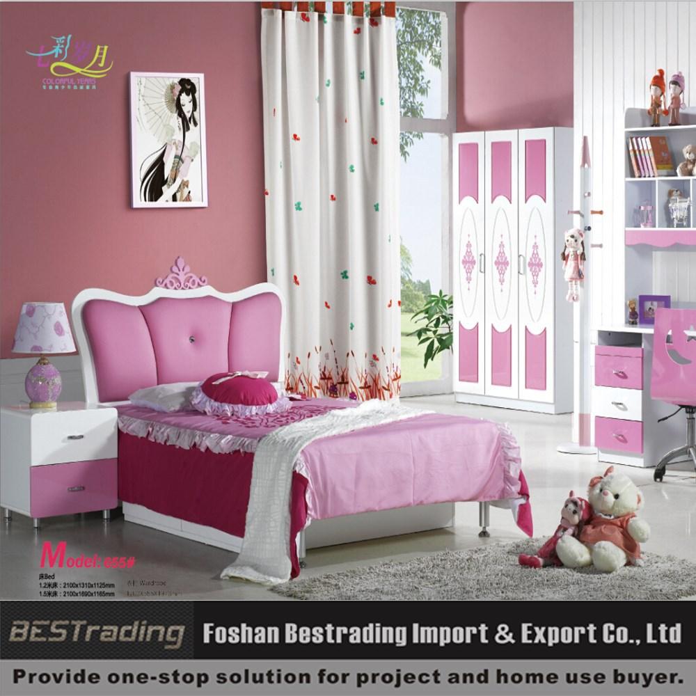 mdf moderne roze prinses meisjes bed-kinderen meubels sets-product ...