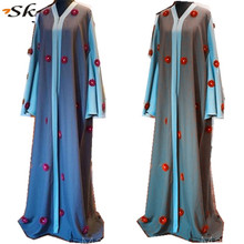 SK-Girl Factory oem Abaya Dubai Arabic islamic clothing 3D flowers design Abaya