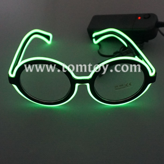 2018 New Round Shape EL Wire Glasses