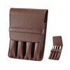 Pen Case PU Leather Holder for 4 Fountain Pen Storage Separate Slot