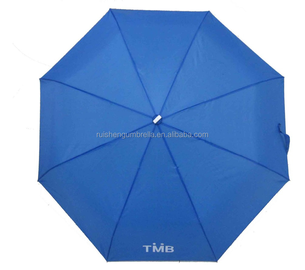 3 fold rain umbrella aluminium frame with custom logo print umbrella