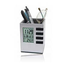 Creative school and students gift clock penholder with multifunction display