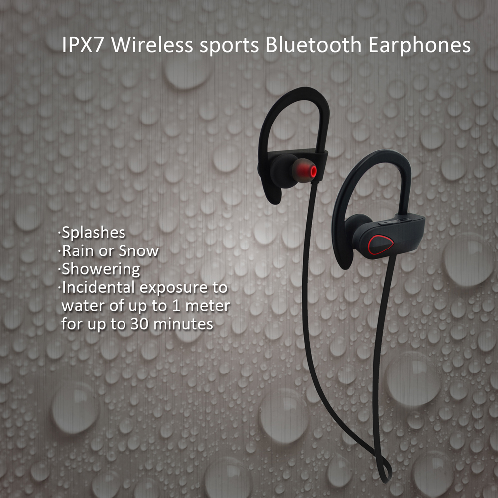 Hot Selling 2016 Bluetooth Headphones Manufacturers IPX-7 Waterproof CVC 6.0 Noise Cancelling RU9