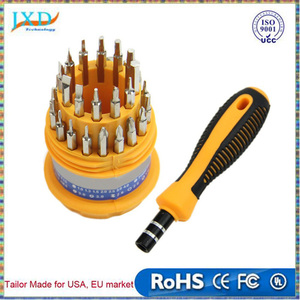 31 in 1 precision Magnetic screwdriver set with Non-slip rubber handle essential tool kit