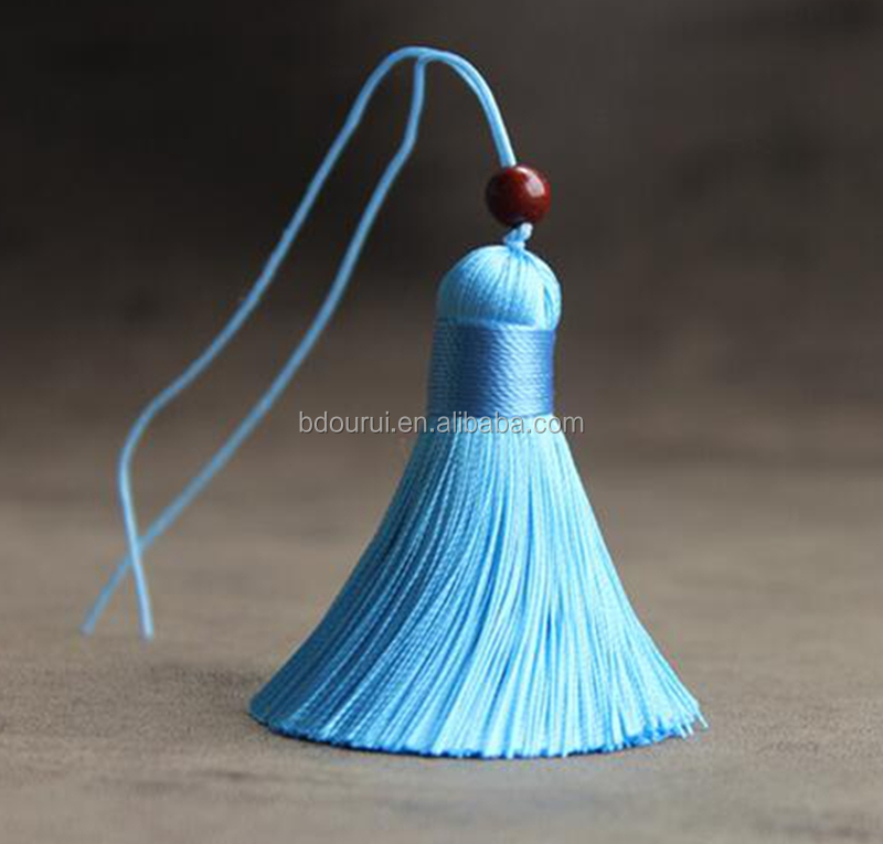ourui wholesales free sample 6cm silk tassels with beads ,silk tassels for jewelry