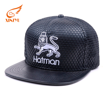 Design Your Own Black Leather Strap Snapback Cap Low Profile Snapback Hat  With Metal Buckle cbbd11123348