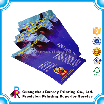 Fast Printing Full Color Flyer In 157gsm 128gsm Art Paper