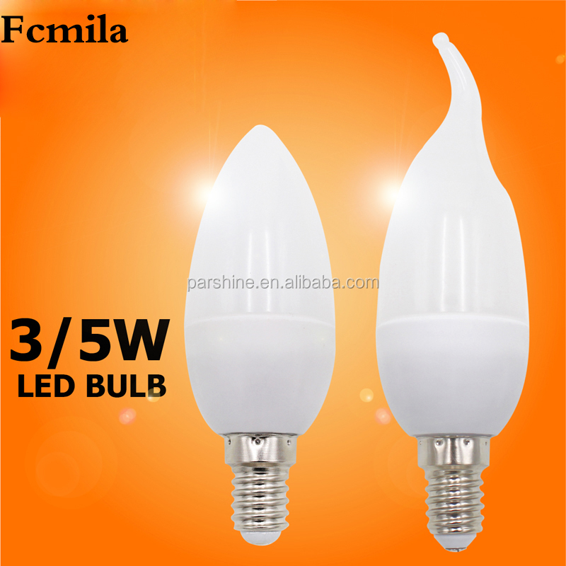 5W high quality candle lamp C37 hot sale 85-265v warm white, pure white, cool white led lamp