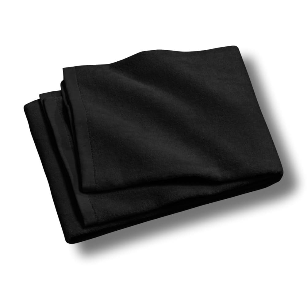 "Custom & Luxurious {30"" x 60"" Inch} 2 Pack of Large & Thick Soft Summer Beach & Bath Towels Made of Quick-Dry Cotton w/ Modern Solid Colored Cabana Hotel Style [Black]"