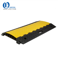 Rubber cable protector road humps with cable wire cover