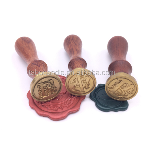 Text and Initials Brass Wax Seal