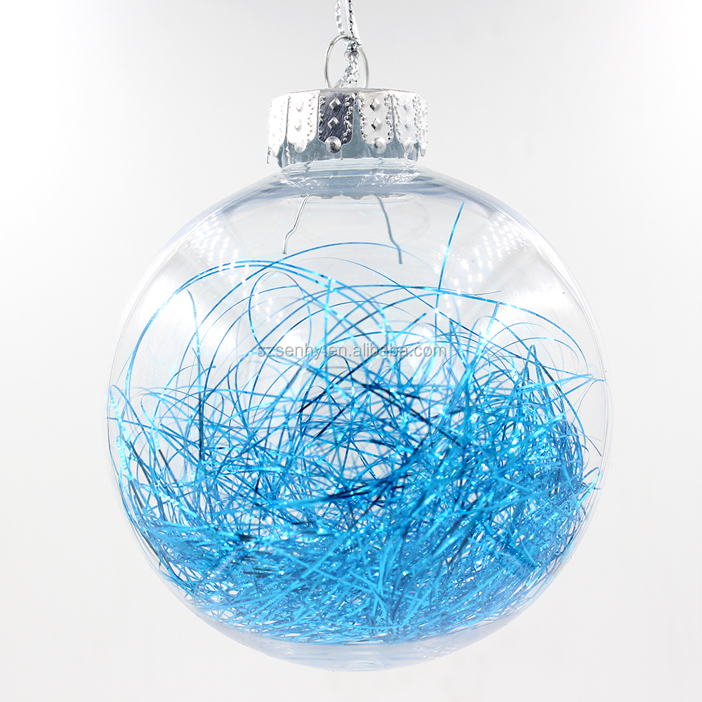 Popular inside clear glass ball christmas tree ornament