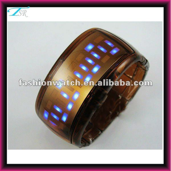 china made 2012 TSR promotion cheap led silicone watch bracelet