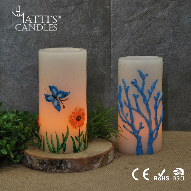 Matti's Elegant Shape Led Asian Candle/Candle Gift Sets/Wedding Favors Candle